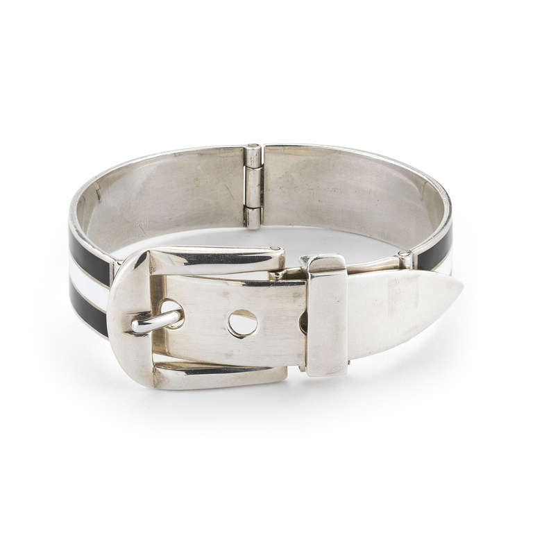 This Iconic Gucci Buckle Bracelet Is From The 1970s And Made Of Silver