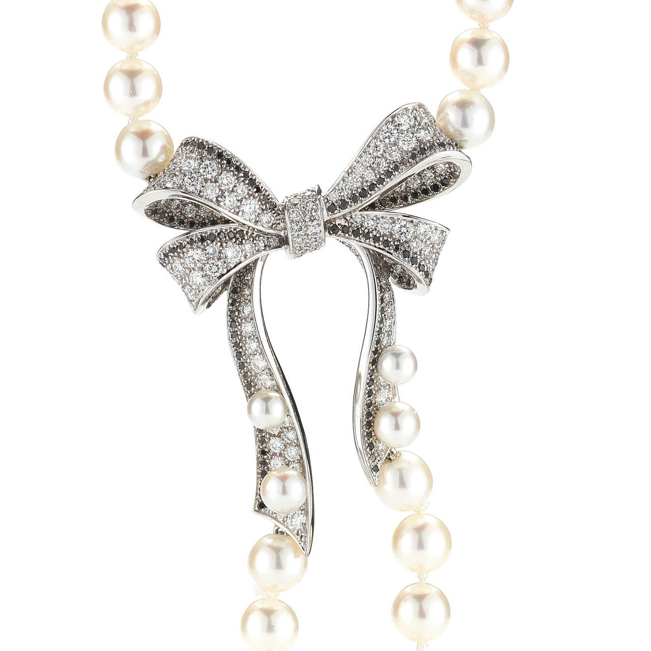 chanel pearl bow necklace at 1stdibs