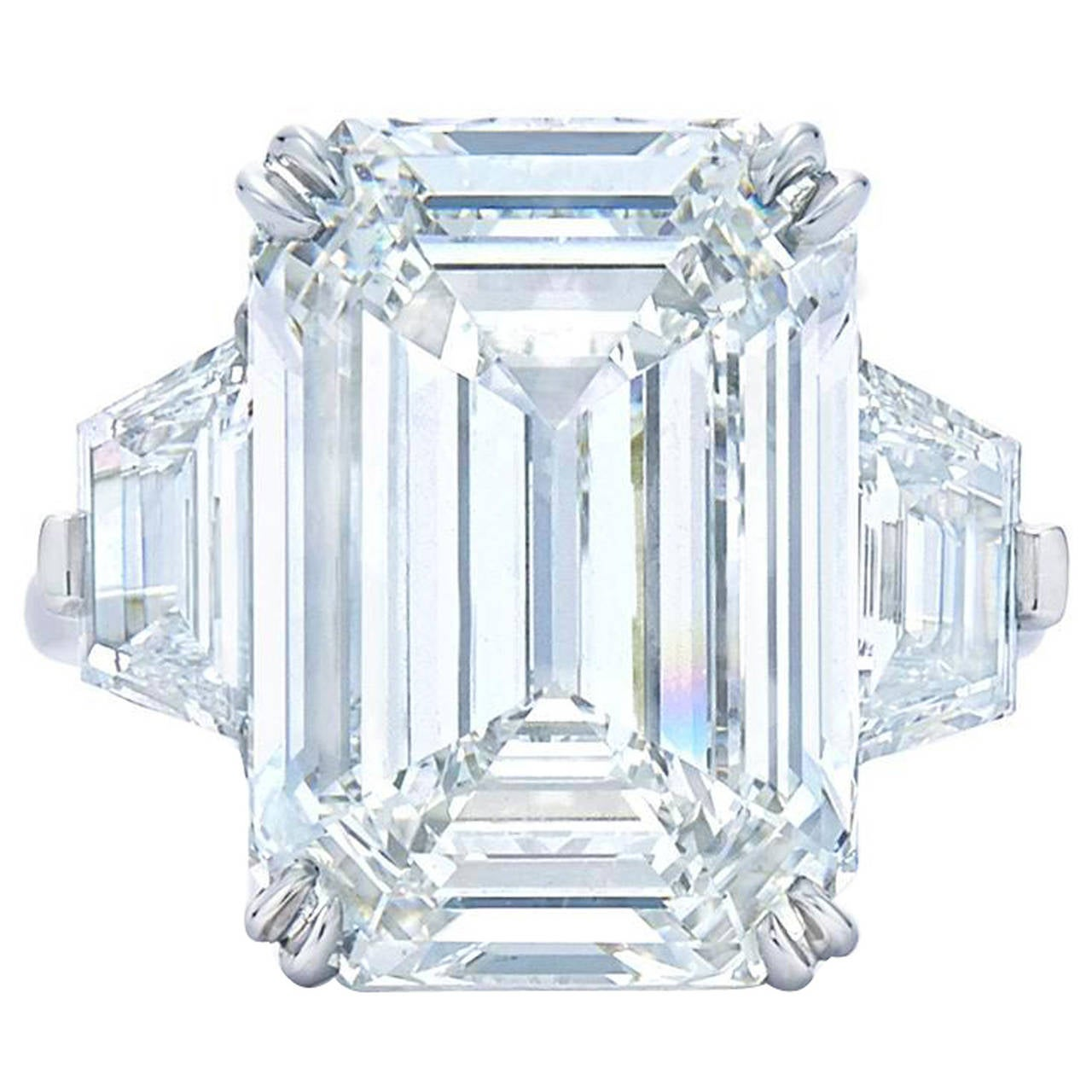 8.01ct Emerald Cut Diamond Ring For Sale