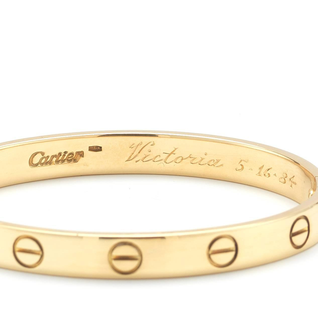 cartier bracelet sizes cartier bracelet yellow gold size 16 at 1stdibs 3010