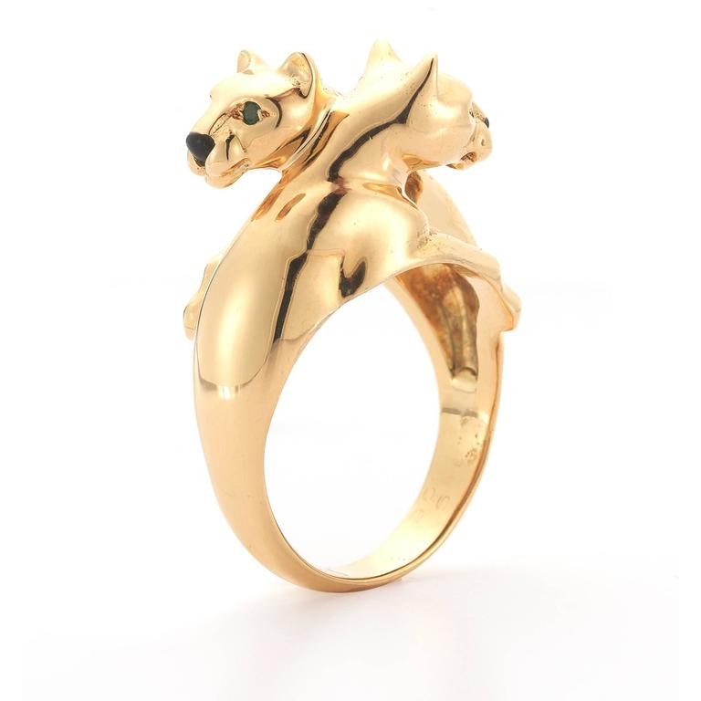 Cartier Gold Panther Bypass Ring 2