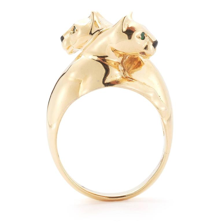 Cartier Gold Panther Bypass Ring 3