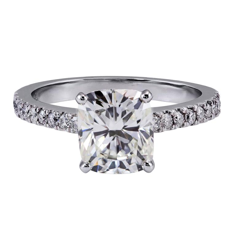 2.03 Carat GIA Certified Cushion Cut Diamond Solitaire Engagement Ring