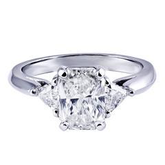 Radiant Cut GIA Certified Diamond Three-Stone Engagement Ring