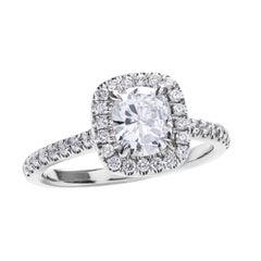 GIA Certified Cushion Cut Diamond Engagement Ring