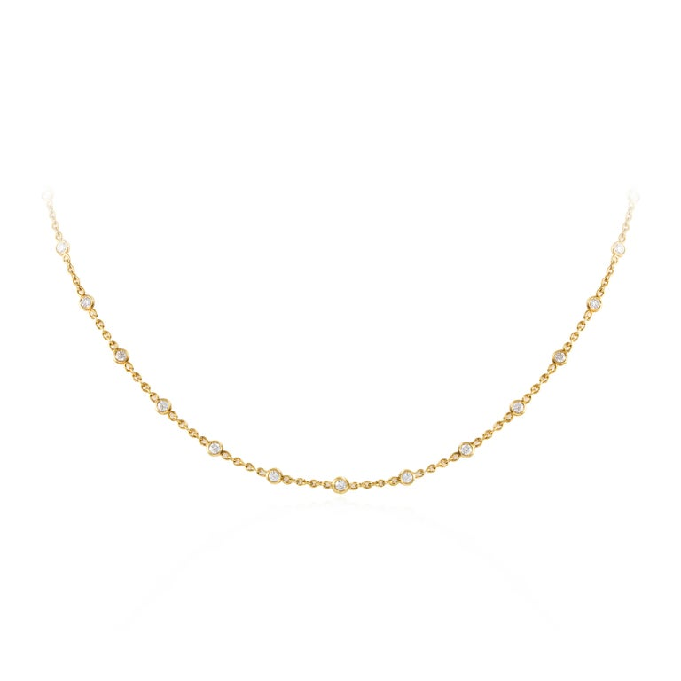 Diamonds by the Yard Necklace in 18 Karat Yellow Gold