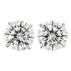 HRD Certified 11.46 Carat Round Diamond Earrings