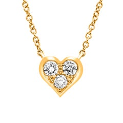 Tiffany & Co. Rose Gold Diamond Heart Pendant