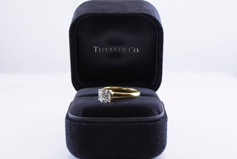 Tiffany & Co. 1.35 Carat GIA Certified F, VS1 Lucida Diamond Cut Ring In Excellent Condition For Sale In New York, NY