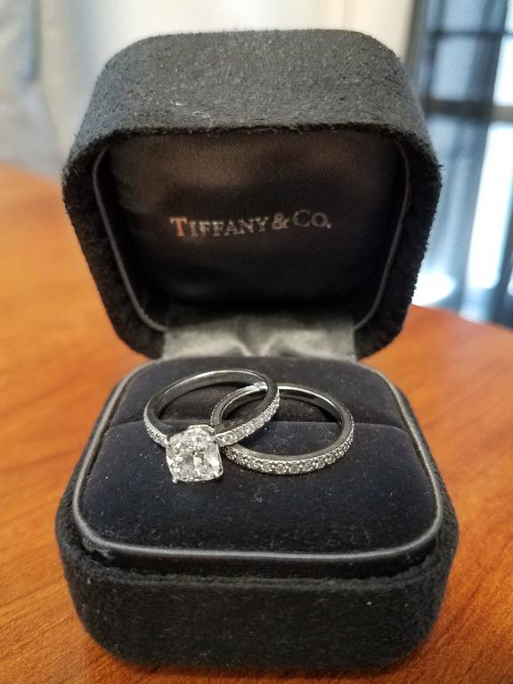 Women's Tiffany & Co. Diamond Platinum Eternity Wedding Band Ring For Sale