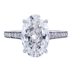 Roman Malakov 3 Carat GIA Certified Oval Cut Diamond Platinum Engagement Ring