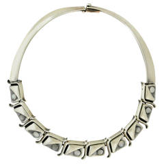 Antonio Pineda .970 Silver & Moonstone Necklace