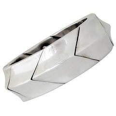 Antonio Pineda .970 Silver Chevron Motif Bracelet