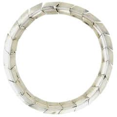 Antonio Pineda .970 Silver Chevron Necklace