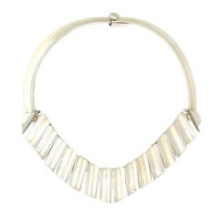 Antonio Pineda .970 Silver Modernist Necklace