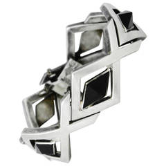 Antonio Pineda Onyx .970 Silver Link Bracelet