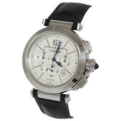 Cartier Stainless Steel Pasha Automatic Chronograph Wristwatch