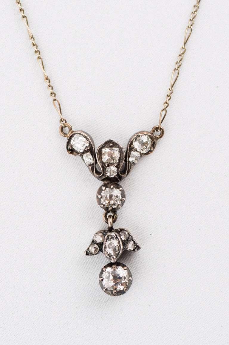 Black Anodized Silver Over Gold Diamond Pendant 2