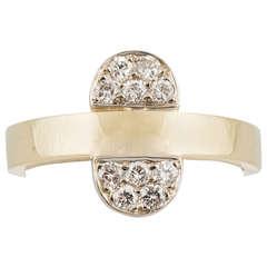 Aldo Cipullo Diamond Gold Ring