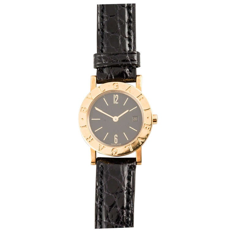 New Bulgari Lady's Yellow Gold Wristwatch