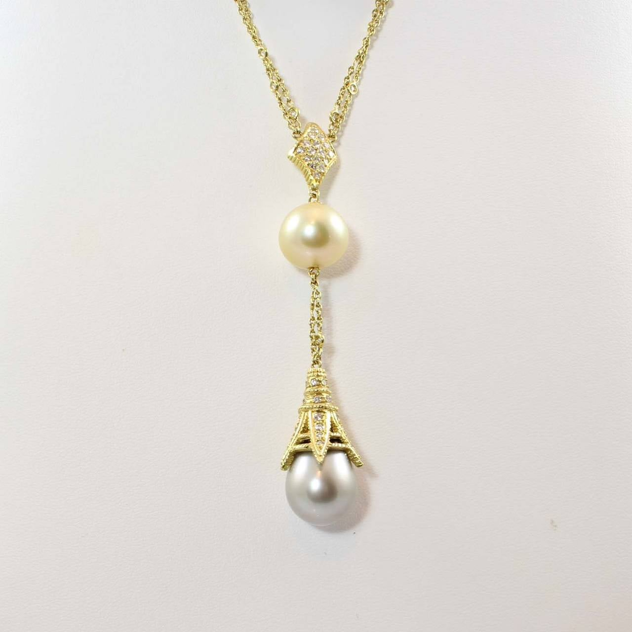 Doris Panos South Sea Pearl Diamond Gold Fantasy Necklace For