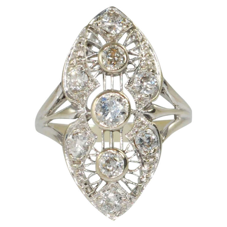 1930 filigree white gold ring at 1stdibs