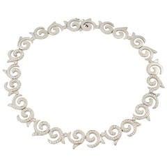 """Doris Panos Diamond Gold Large """"Escargot"""" necklace"""