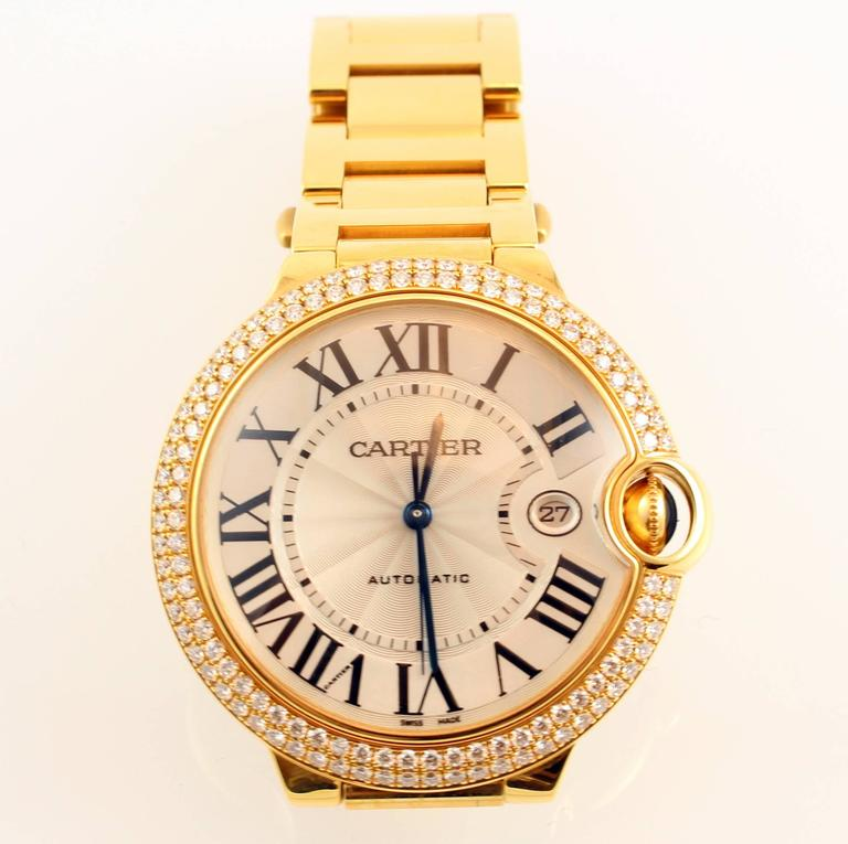 Yellow Gold Diamond Ballon Bleu De Cartier Bracelet Watch 2