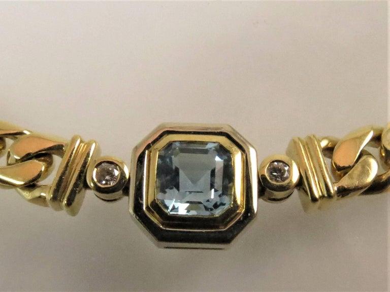 Contemporary 18 Karat Yellow Gold Multi-Color Semi Precious Color Stone and Diamond Necklace For Sale