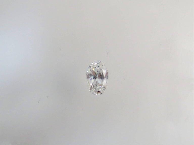 Contemporary GIA Certified 1.21 Carat Oval Diamond, D Color, VVS2 Clarity For Sale