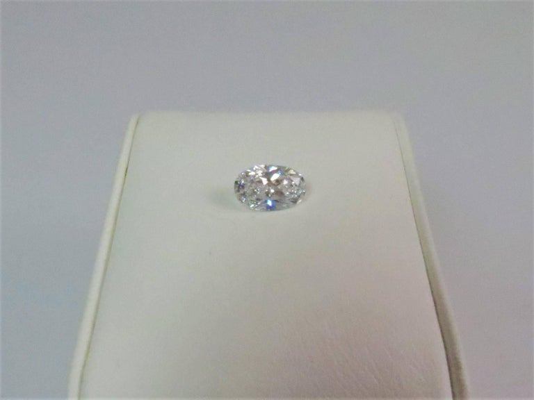 GIA Certified 1.21 Carat Oval Diamond, D Color, VVS2 Clarity In Excellent Condition For Sale In Chicago, IL