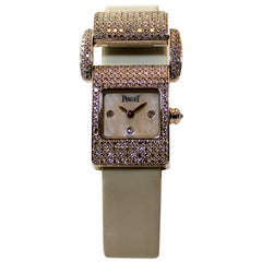 Piaget Ladies White Gold Diamond Ms. Protocol Quartz Wristwatch