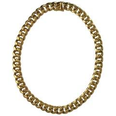 Fernando Bucci 18 Karat Yellow Gold Curb Link Necklace
