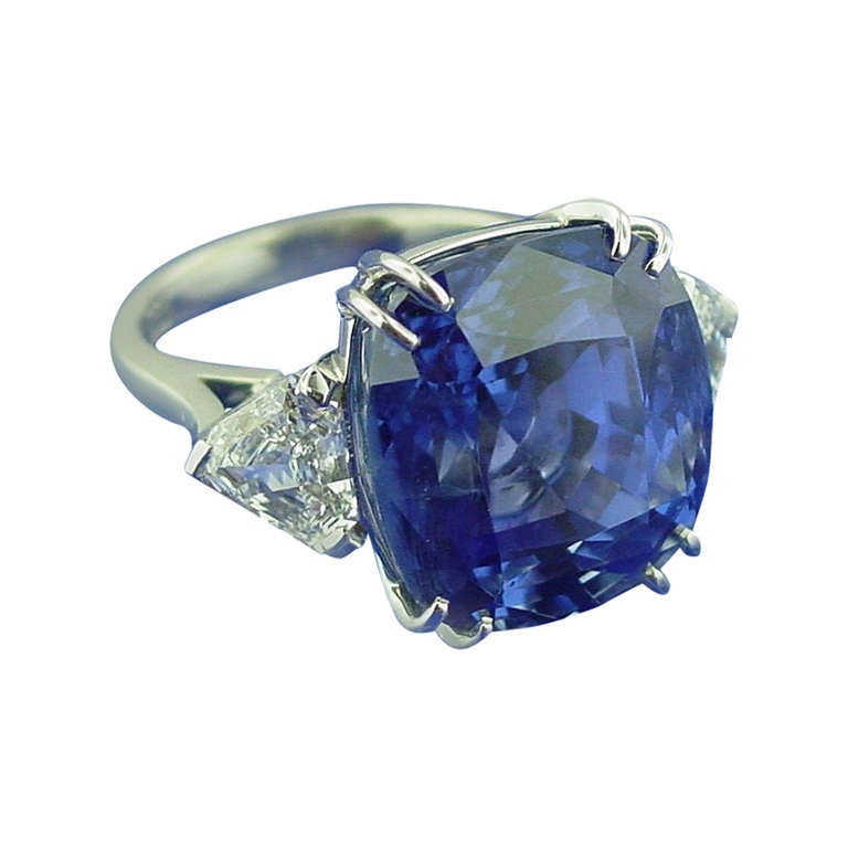 sapphire platinum ring for sale at 1stdibs