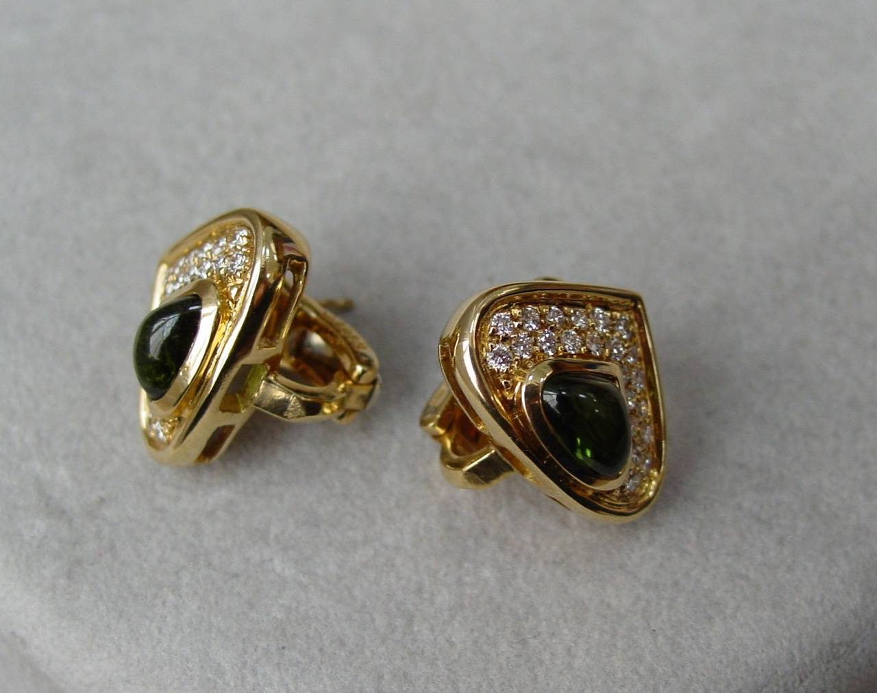 Marina B 'Pneu' Gemstone and Diamond Drop Earrings 4