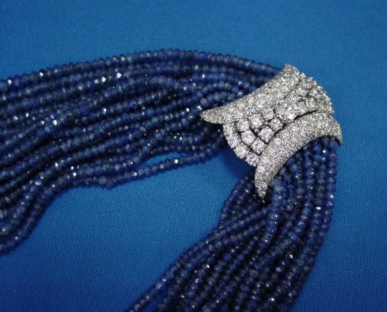 Sapphire Bead and Diamond Necklace 2