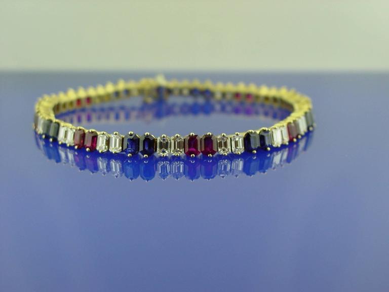 Ruby Diamond and Sapphire Bracelet 2