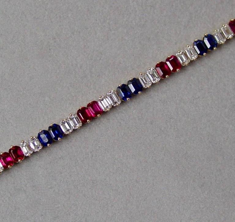 Ruby Diamond and Sapphire Bracelet 3