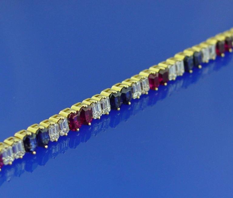 Ruby Diamond and Sapphire Bracelet 4