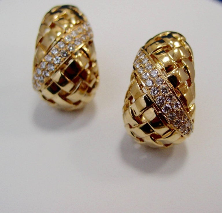 Tiffany & Co. Gold and Diamond Earrings 3