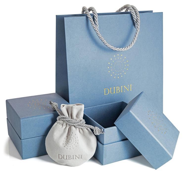 Pear Cut Dubini Theodora Aquamarine and Blue Sapphire 18 Karat Yellow Gold Ring For Sale