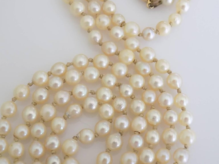 Art Deco 1920s Gold Coral Cultured Pearl Necklace In Excellent Condition For Sale In Boston, Lincolnshire