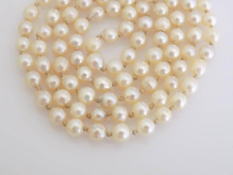 Women's Art Deco 1920s Gold Coral Cultured Pearl Necklace For Sale