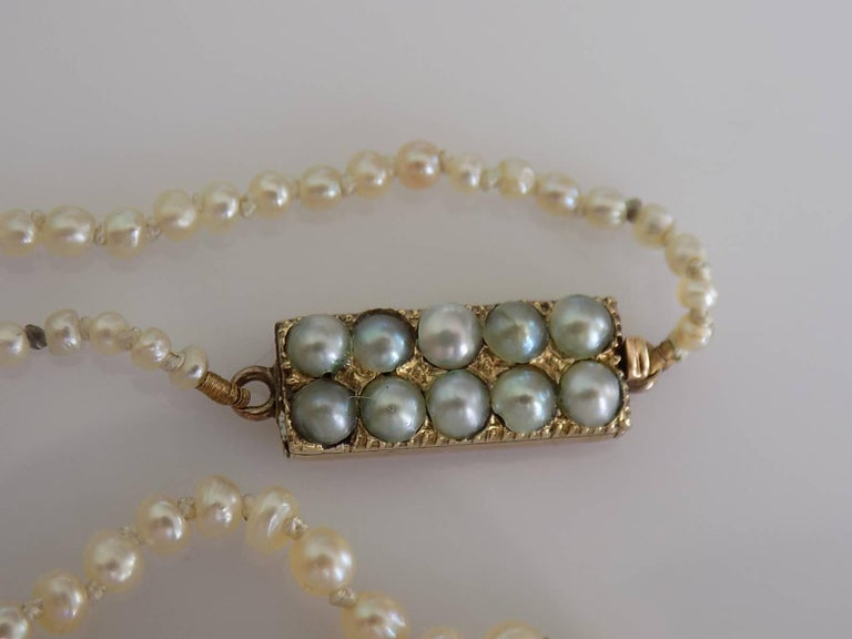 Victorian Asprey Natural Seed Pearl Gold Necklace 3