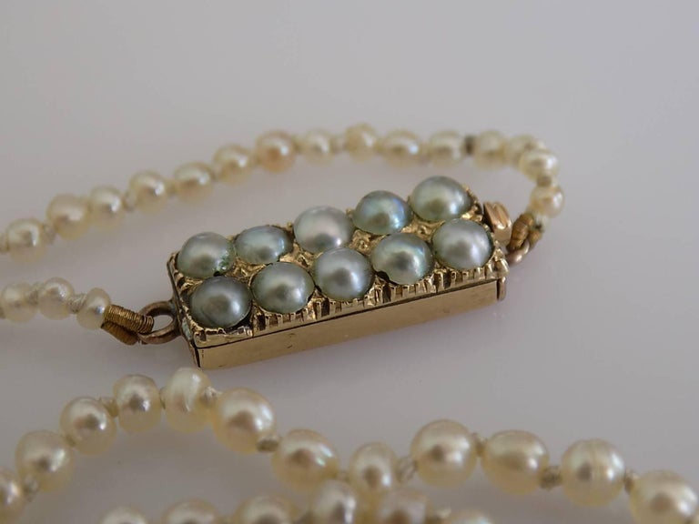 Victorian Asprey Natural Seed Pearl Gold Necklace 4