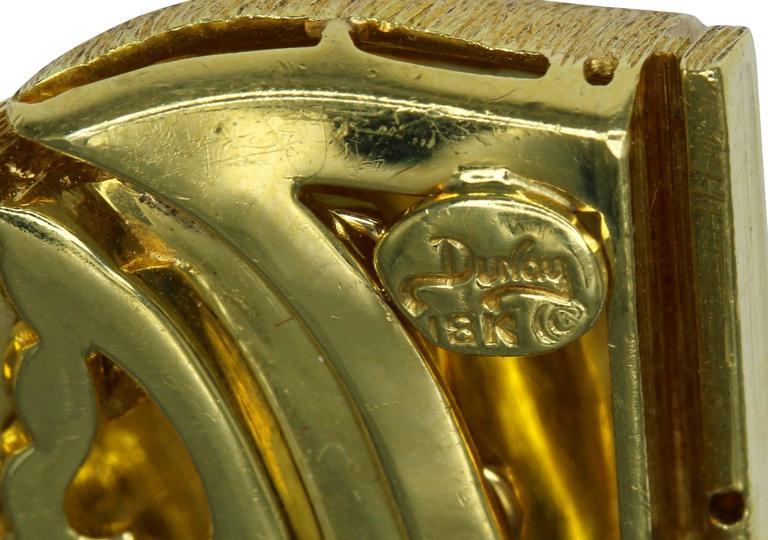 Henry Dunay Textured Gold Link Bracelet For Sale 1