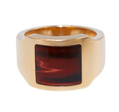Cartier Tiger's Eye and Gold Men's Ring