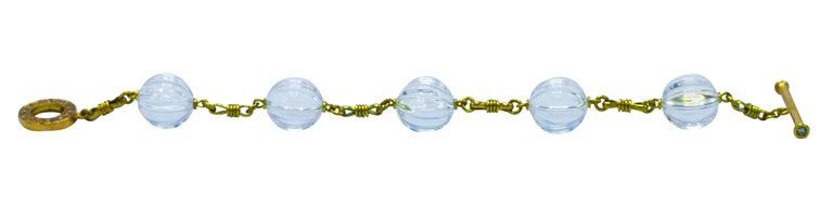 Rock Crystal, Diamond and Gold Bracelet 3