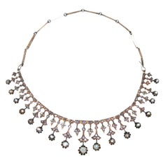 Mid-19th Century Diamond and Gold Necklace
