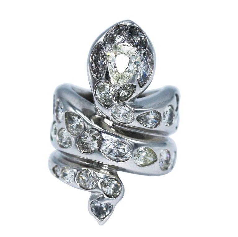 acquista l'originale offerte esclusive miglior posto per Paolo Piovan Gioielli Diamond Snake Ring